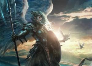 White Winged Warrior Goddess